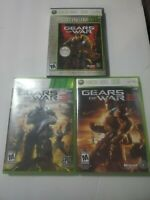Gears of War Trilogy 1 2 3 - MicroSoft XBOX 360 Game Lot Tested Works Complete