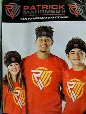 Patrick Mahomes Wig Headband Combo KC Chiefs Kansas City NFL Football
