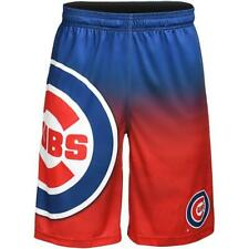 Chicago Cubs MLB Gradient Blue/Red Big Logo Training Shorts FREE SHIP