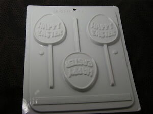 HARD CANDY HAPPY EASTER EGG SUCKER MOLD - HS-2246