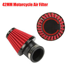 42mm 45° Bend Motorcycle Cone Style Air Filter Dual Layer Stainless Steel Mesh