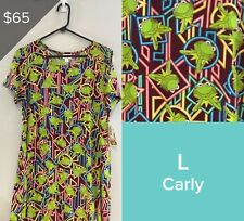 LULAROE COLLECTION FOR DISNEY CARLY DRESS, SIZE L NWT KERMIT THE FROG 3544