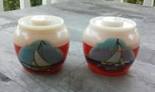 Vintage Handpainted Thousand Island Souvenir Salt and Pepper Shakers