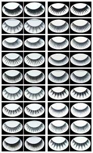 5x 3D Künstliche Wimpern Falsche Unechte Wimpern False Strip Eyelash
