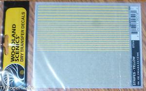 Woodland Scenics #516 Dry Transfer  -- Stripes - Yellow