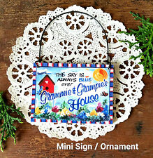 DECO Mini Sign GRAMMIE GRAMPIE Relatives  Wood Ornament Decoration for every day