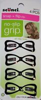 Scunci Snap + Flip Clip No Slip Grip 4pcs, All Day Hold