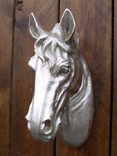 Wall Mounted Resin Garden Horse Head Bust Animal Statue Sculpture Ornament 37cm