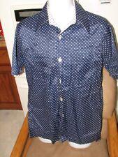 1970's  Joel of California Disco Pop Leisure shirt Polka Dots Unused Men's Large