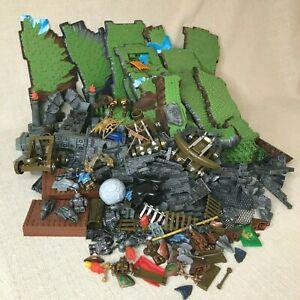 Huge Lot Mega Bloks Dragons Krystal Wars Base Plates, Mini Figures, Weapons