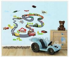 Disney Cars Racing Track Planes Wall decals Removable sticker Kids Nursery Decor