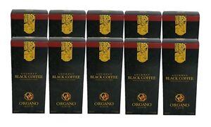 10 Boxes Organo Gold Gourmet Black Coffee Exp 2023 W/ Ganoderma FREE SHIPPING