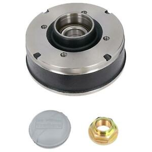 """200 x 50mm Brake Drum & Bearing for Ifor Williams Trailer 4 Stud 5-1/2"""" PCD"""