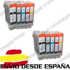 10 CARTUCHOS DE TINTA COMPATIBLES NonOem CANON PIXMA IP4200 | PGI-5eBK CLI-8