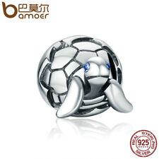 Bamoer S925 plata esterlina encanto Lindo Tortuga con AAA Cubic Zirconia Pulseras para De mujer