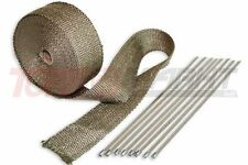 10 m Krümmerband 5 cm breit inkl Befestigung Hitzeschutz Titan Auspuffband
