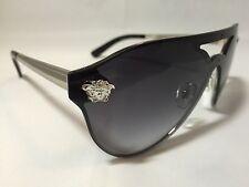8f49d938b1b Versace Sunglasses 100% Authentic MOD 2161 Black   Chrome  NEW