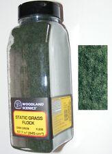 Woodland Scenics N / HO / O scale ~ DARK GREEN ~ Static Grass Flock ~ FL636
