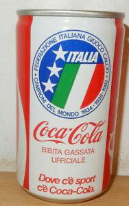 1982 COCA COLA Italia Campioni Del Mundo can from ITALY (33cl)