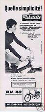 Publicité Advertising 066 1964 Motobécane Motoconfort  mobylette AV 42