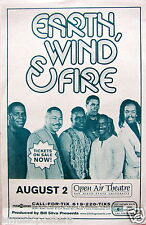 EARTH, WIND & FIRE 2002 SAN DIEGO CONCERT TOUR POSTER - R&B,Soul,Funk,Jazz,Disco
