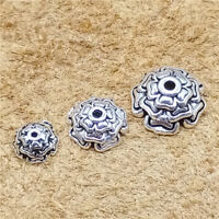 14/7/4pcs Sterling Silver Flower Bead Caps 925 Silver for Bracelet Spacers