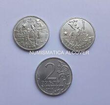 RUSSIA RUSIA 2 x 2 Rubles rublos 2017 Hero Kerch & Sevastopol - UNC