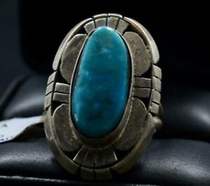 Turquoise Ring with Sterling Silver by Navajo Artist Betta Lee