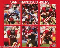 SMALL POSTER:NFL FOOTBALL: SAN FRANCISCO 49'ERS COLLAGE - FREE SHIP #6245 LP46 R