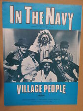 song sheet IN THE NAVY Village People 1979