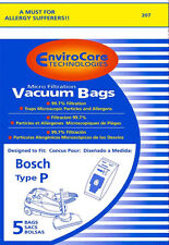 5 Bosch Type P Canister Vacuum Bags - Generic
