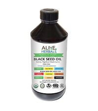 Alive Herbals Black Seed Oil Cold Pressed Organic 4 OZ. 100% Raw, Unfiltered