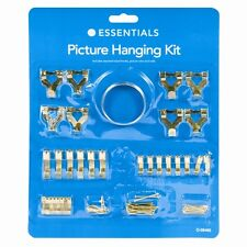 60 PIECE PICTURE HANGING KIT FRAME WALL HOOKS WIRE NAILS TACKS FREE & FAST POST