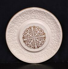 Vintage 1960s Lenox Chalet Cheese Cracker Platter Raised 24K Gold Scrollwork