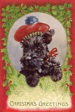 Scottish Terrier Dog 40's Florence Valter New LARGE Blank Christmas Note Cards 2