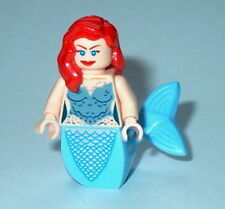 PIRATES #07 Lego Mermaid w/Curved Fish Tail & Red Hair Flesh Disney Genuine Lego