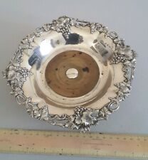 GOOD ANTIQUE SOLID SILVER WINE BOTTLE COASTER.       360gms.       SHEFF. 1856.