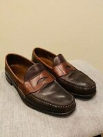 Allen Edmonds Burke Brown Leather Penny Loafers Mens Dress Shoes Size 10 D 7430