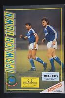 1988/89 IPSWICH TOWN v HULL CITY Division Two match programme 8.4.1989