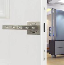 Internal/External Door Handle Diamante Brushed Steel Finish on Square Rose