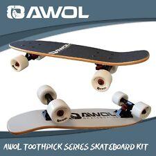 AWOL COMPLETE TOOTHPICK SERIES MINI RETRO SKATEBOARD KIT SETUP (FREE WAX)