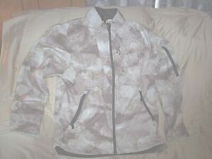 Mens Large Camo Jacket Browning Hunting Jacket Water Resistant Non Insulated