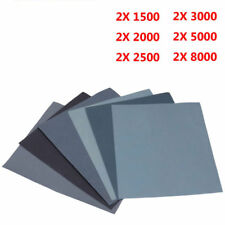 12x Feuille de papier abrasif pour poncer à leau 230x280mm grain ponçage