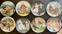 8-Knowles Collector Plates The Sound of Music COMPLETE SET with Certificates