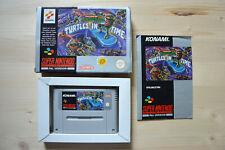 SNES-Turtles IV: Turtles in Time - (Original packaging, with instructions)