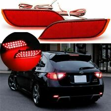 Red LED Lens Bumper Reflector Brake Stop Lights For Subaru WRX STI Impreza 08-19