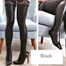 Wetlook Black Lace Top Stockings