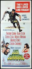 LOST COMMAND Daybill Movie poster Anthony Quinn Alain Delon Michele Morgan