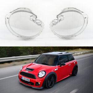 MINI Cooper R56 (06-13) OEM Xenon Headlight Glass Headlamp Lens Cover (PAIR)