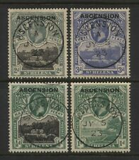 Ascension 1922 KGV St Helena Ovprt Stamps Used